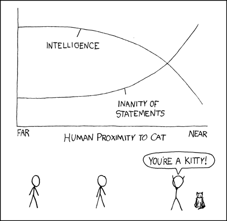 xkcd - A Webcomic - Cat Proximity
